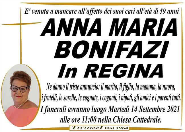 ANNA MARIA BONIFAZI in REGINA
