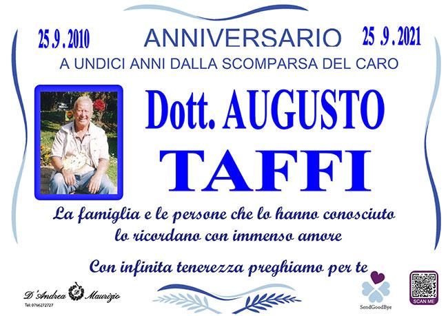 Dott. AUGUSTO TAFFI – Anniversario