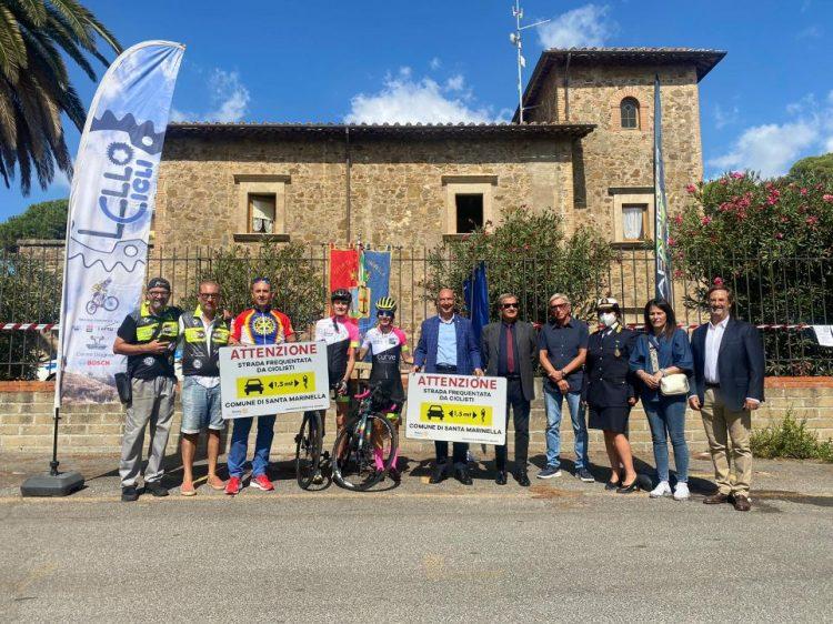 Santa Marinella, una pedalata per sensibilizzare l'opinione pubblica sul tema della sicurezza stradale nei confronti dei ciclisti