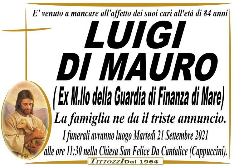 LUIGI DI MAURO (Ex M.llo della Guardia di Finanza di Mare)