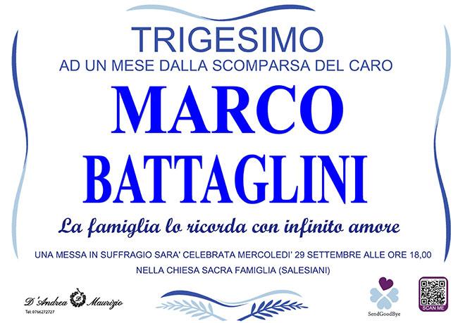 MARCO BATTAGLINI – Trigesimo
