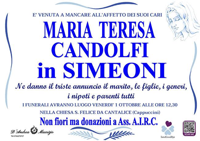 MARIA TERESA CANDOLFI in SIMEONI