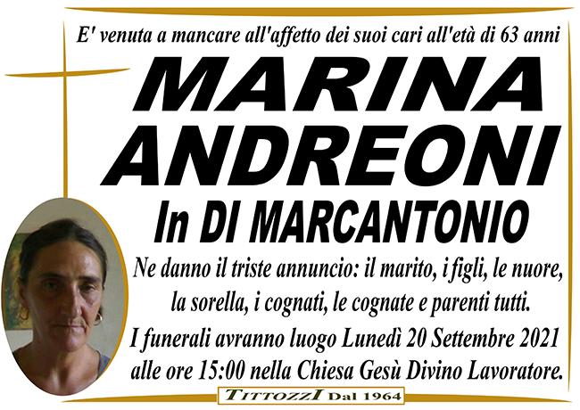 MARINA ANDREONI in DI MARCANTONIO