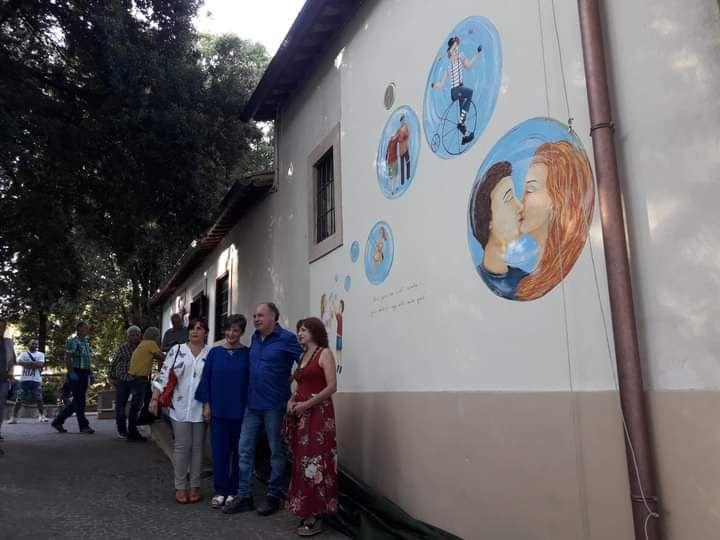 Villa comunale, inaugurato il murales