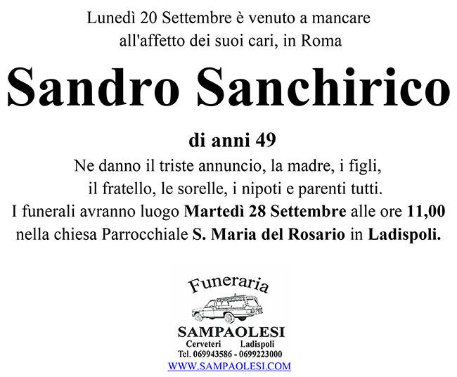 SANDRO SANCHIRICO di anni 49