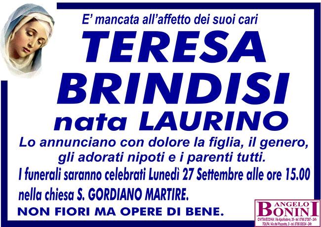 TERESA BRINDISI nata LAURINO