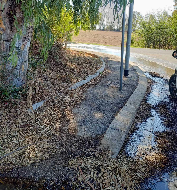 Miasmi ad Aranova: saltano     le fogne e i liquami invadono la strada