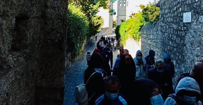 Crocieristi ieri in visita alla città di Tarquinia