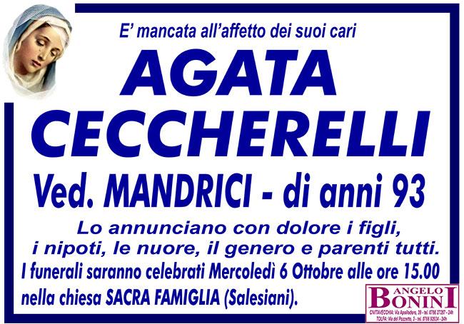 AGATA CECCHERELLI ved. MANDRICI di anni 93