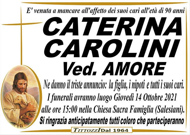 CATERINA CAROLINI ved. AMORE