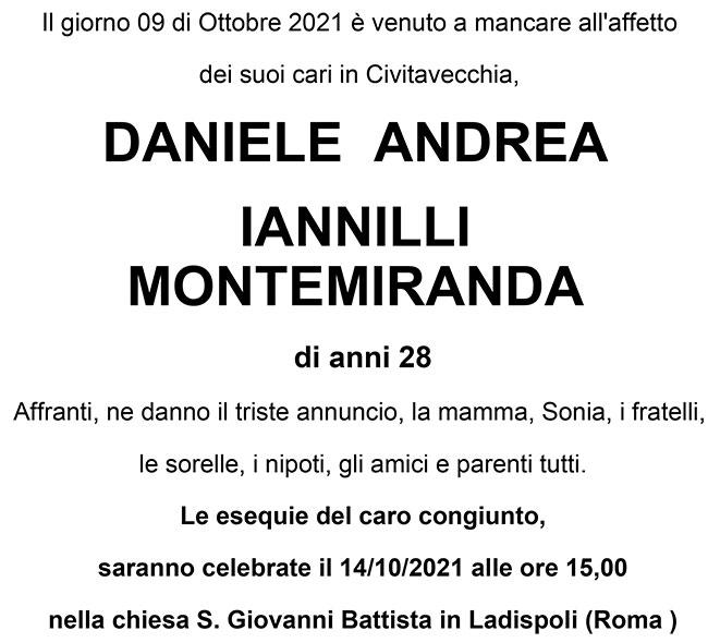 DANIELE ANDREA IANNILLI MONTEMIRANDA di anni 28