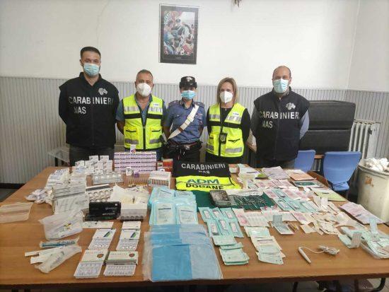 Farmaci contraffatti per trattamenti estetici: perquisizioni e sequestri di Nas e Adm