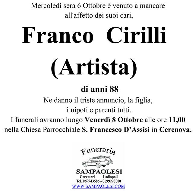 FRANCO CIRILLI (Artista) di anni 88