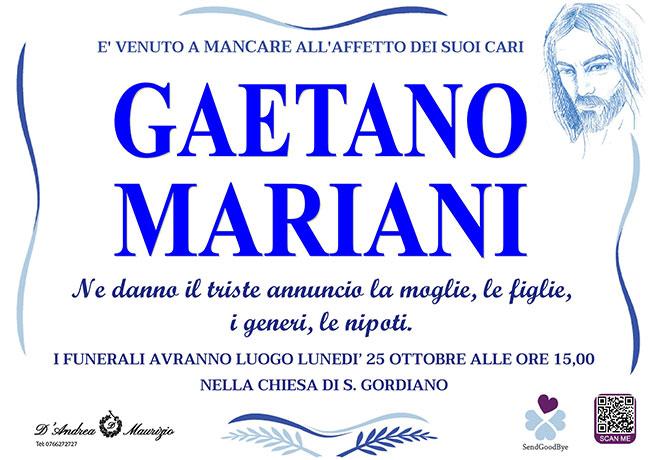 GAETANO MARIANI