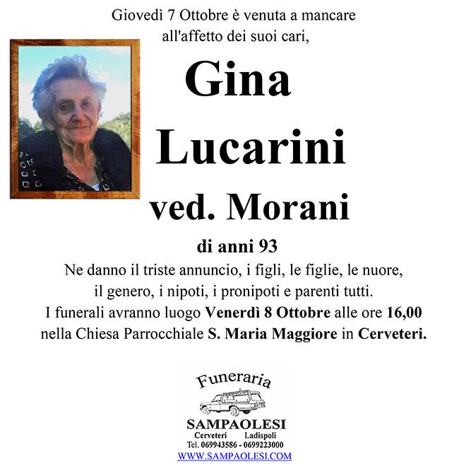 GINA LUCARINI ved. MORANI di anni 93