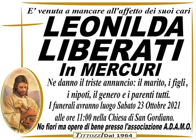 LEONILDA LIBERATI in MERCURI