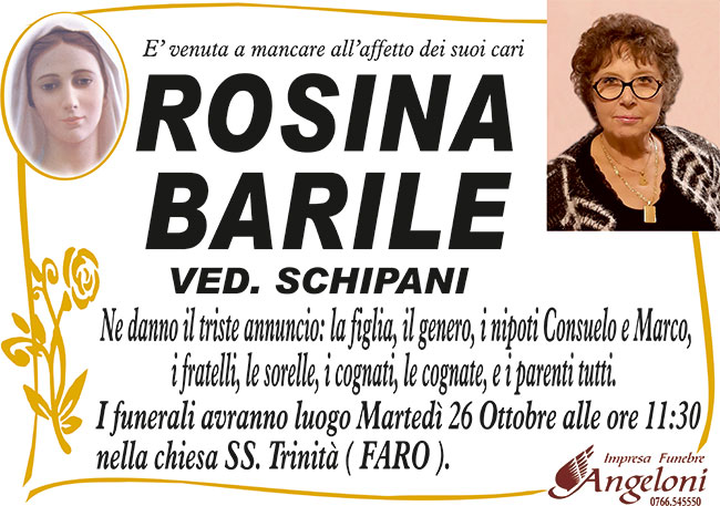 ROSINA BARILE ved. SCHIPANI