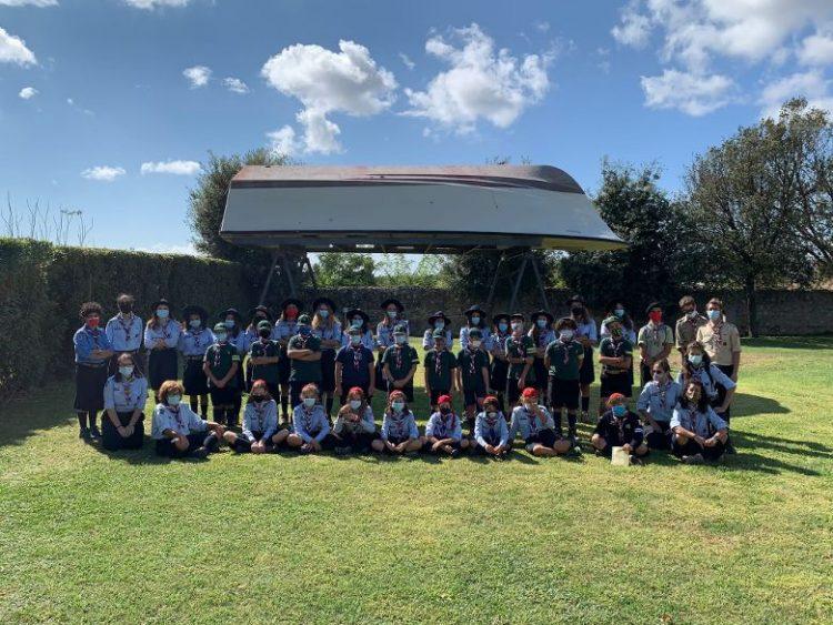 Visita degli scout al parco della pace della Cittadella di Semi di pace