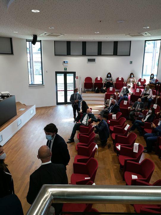 Il sindaco Tedesco e l'assessore Di Paolo al convegno Viterbo – Civitavecchia: sinergie e opportunità a sostegno del turismo