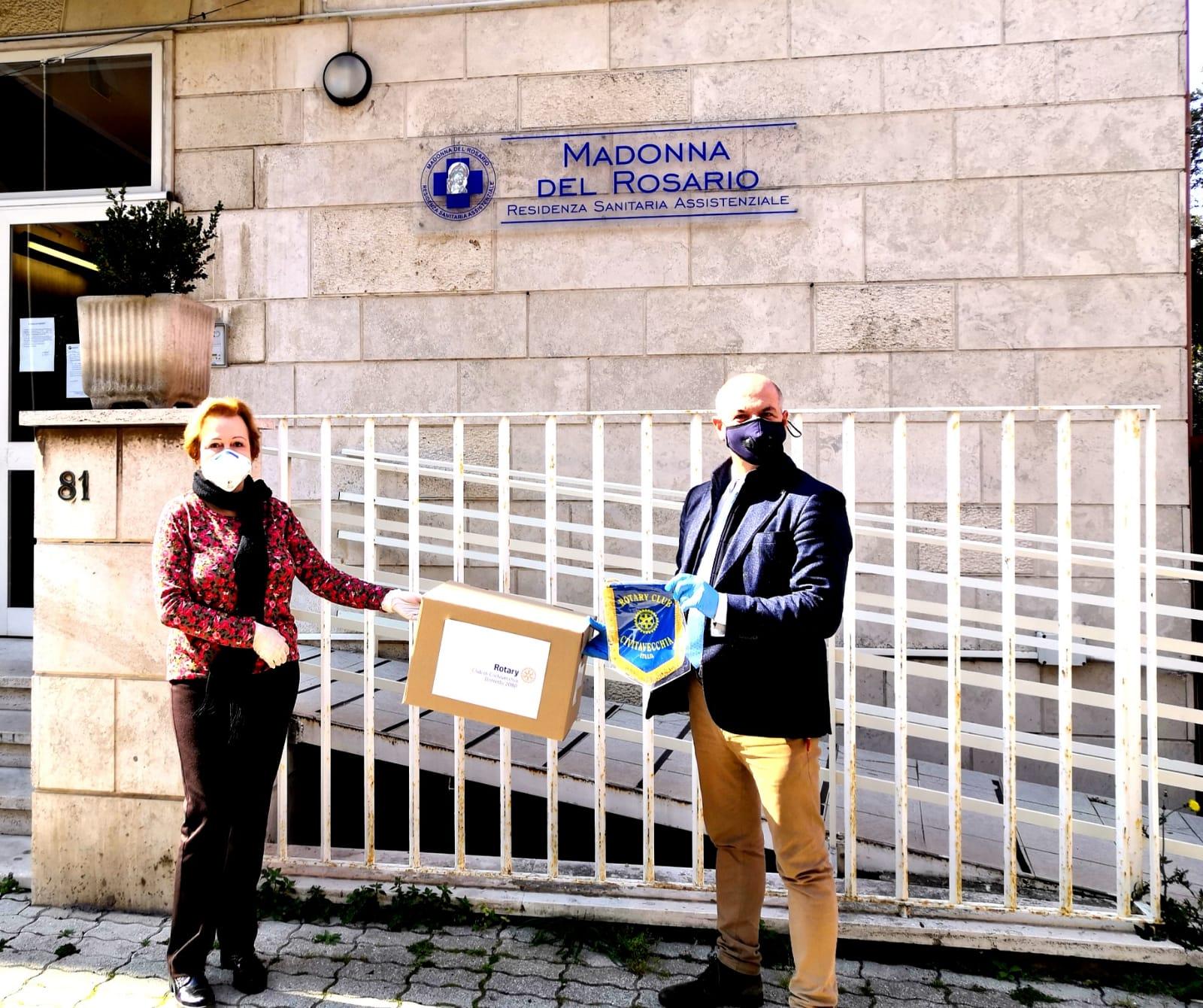 Madonna del Rosario, il Rotary dona dispositivi di protezione